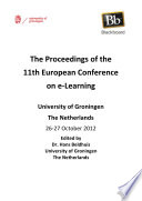 Ecel2012 The Proceedings Of The 11th European Conference On E Learning