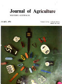 Journal Of Agriculture Western Australia