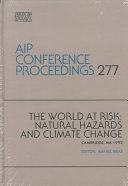 The World at Risk  Natural Hazards and Climate Change