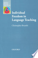 Individual Freedom In Language Teaching Oxford Applied Linguistics