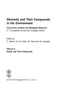 Elements And Their Compounds In The Environment Book PDF