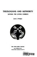 Theologians and Authority Within the Living Church