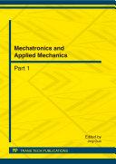 Mechatronics and Applied Mechanics