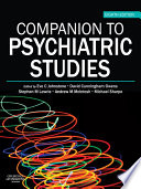 """Companion to Psychiatric Studies E-Book"" by Eve C Johnstone, David Cunningham Owens, Stephen M Lawrie, Andrew M McIntosh, Michael D. Sharpe"