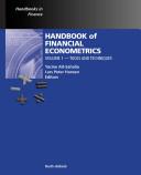 Handbook of Financial Econometrics  Tools and techniques