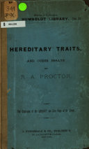 Hereditary Traits  and Other Essays