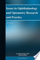 Issues in Ophthalmology and Optometry Research and Practice  2012 Edition