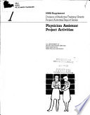 Physician Assistant Project Activities  Supplement
