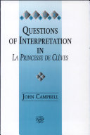 Pdf Questions of Interpretation in La Princesse de Clèves Telecharger