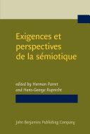 Pdf Exigences et perspectives de la sémiotique Telecharger