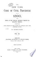 The New York Code of Civil Procedure  as it is in 1890