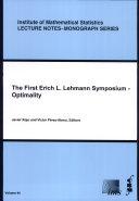 The First Erich L. Lehmann Symposium