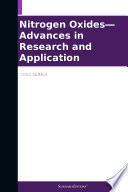Nitrogen Oxides   Advances in Research and Application  2012 Edition