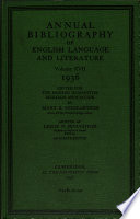 Annual Bibliography Of Eng Ish Language And Literature