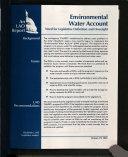 Environmental Water Account Book