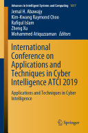 International Conference on Applications and Techniques in Cyber Intelligence ATCI 2019