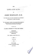 The life and acts of John Whitgift