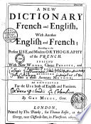 A new dictionary, french and english Pdf/ePub eBook