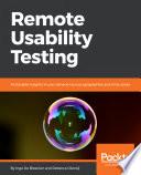 Remote Usability Testing Book