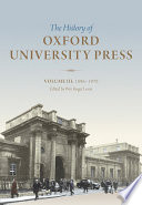 History of Oxford University Press: Volume III  : 1896 to 1970