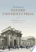 History of Oxford University Press: Volume III