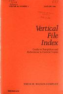 Vertical File Index Book PDF
