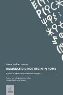 Romance Did Not Begin in Rome