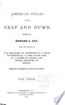 American Annals Of The Deaf And Dumb Book PDF