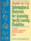 Ready to Use Information   Materials for Assessing Specific Learning Disabilities