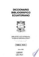 Diccionario bibliográfico Ecuatoriano