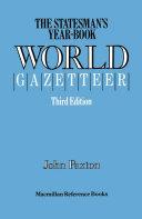 The Statesman s Year Book  World Gazetteer