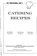 The Professional Chef's Catering Recipes