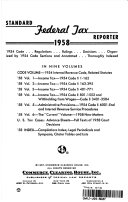 Standard Federal Tax Reporter 1958 1954 Code Regulations Rulings Decisions