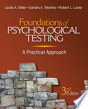 """""""Foundations of Psychological Testing: A Practical Approach"""" by Leslie A. Miller, Sandra A. McIntire, Robert L. Lovler"""