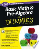 Basic Math and Pre Algebra Book