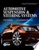 Today s Technician  Automotive Suspension   Steering Book