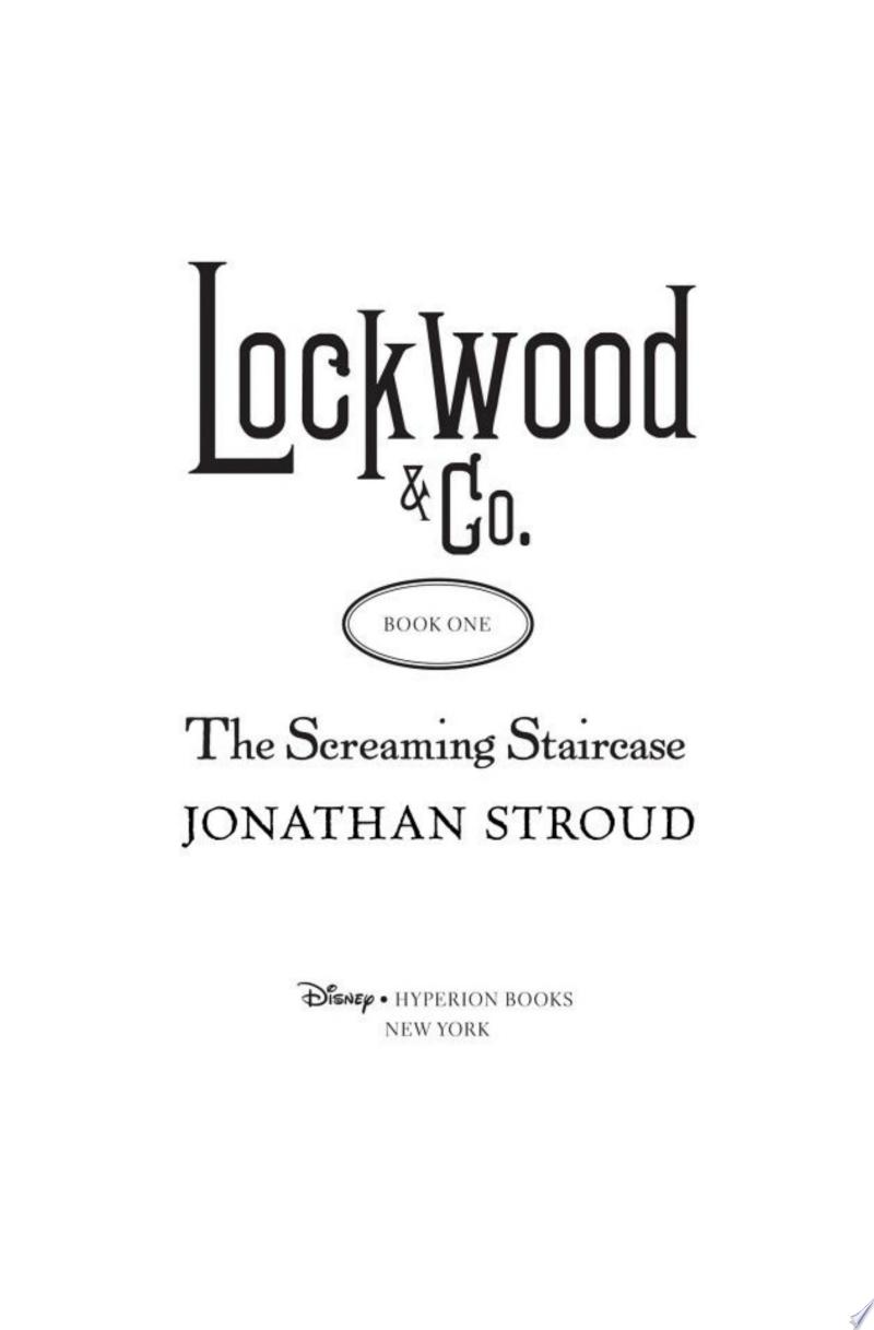 Lockwood & Co.: The Screaming Staircase image
