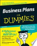 """Business Plans For Dummies"" by Paul Tiffany, Steven D. Peterson"
