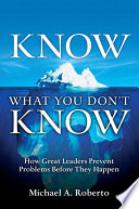 Know What You Don t Know Book PDF