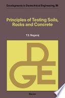 Principles of Testing Soils  Rocks and Concrete