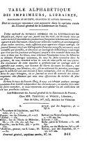 Journal général de la littérature de France, ou Indicateur bibliographique et raisonné des livres nouveaux on tout genre