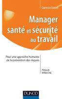 Pdf Manager santé et sécurité au Travail Telecharger