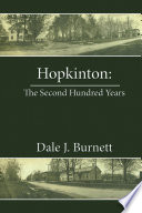 Hopkinton  the Second Hundred Years