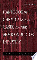 Handbook of Chemicals and Gases for the Semiconductor Industry Book PDF