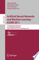 Artificial Neural Networks and Machine Learning - ICANN 2011