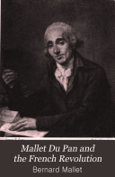 Mallet Du Pan and the French Revolution