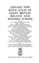 Odhams New Road Atlas of Great Britain, Ireland and Western Europe