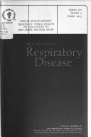 The American Review of Respiratory Disease Book