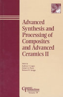 Advanced Synthesis and Processing of Composites and Advanced Ceramics II