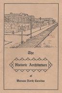 The Historic Architecture of Warsaw North Carolina Pdf/ePub eBook